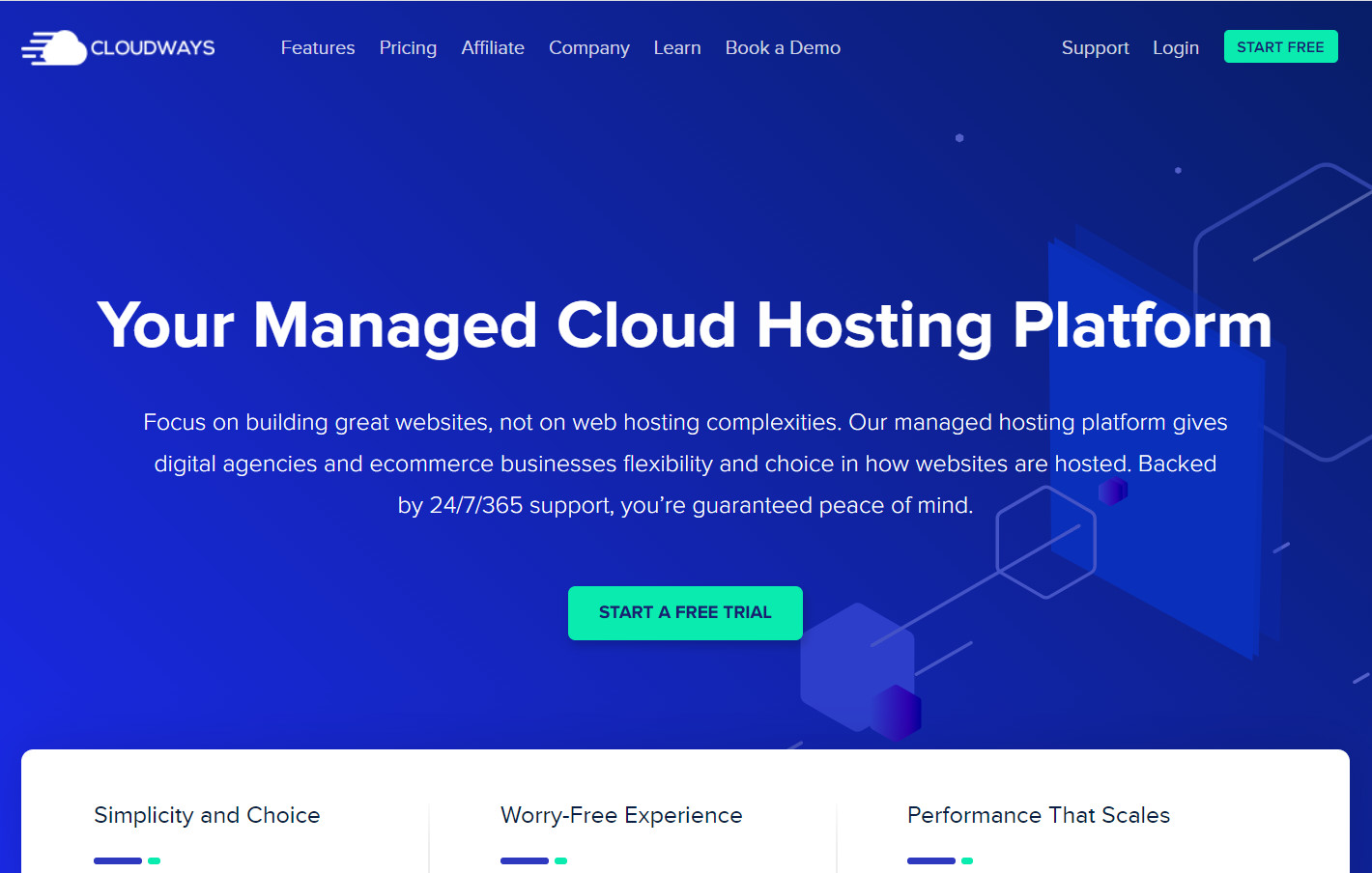 Cloudways website home page