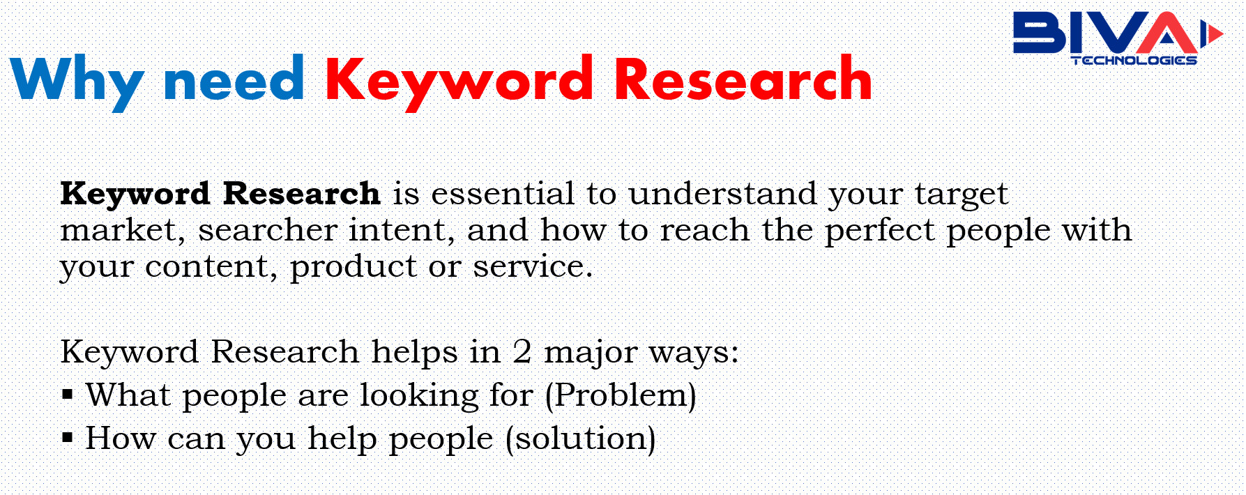 why need keyword research